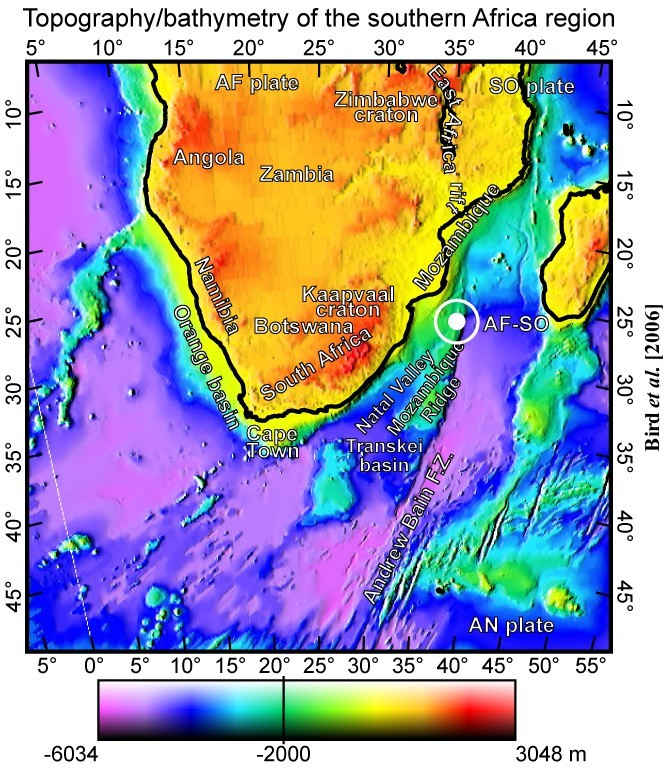 Stress And Strain Rate In Southern Africa